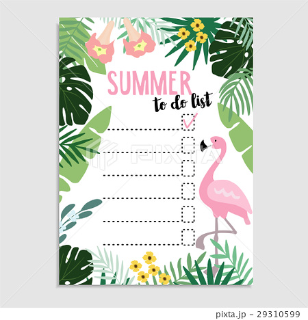 summer greeting card invitation wish list or toのイラスト素材