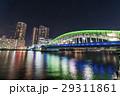 勝鬨橋 ライトアップ 夜景の写真 29311861