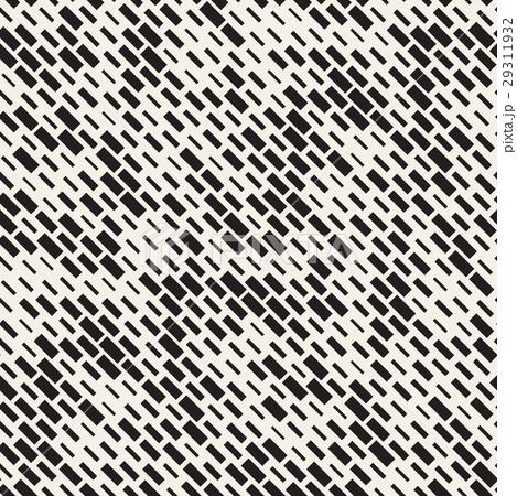 Vector Seamless Black And White Irregular Dashのイラスト素材 [29311932] - PIXTA