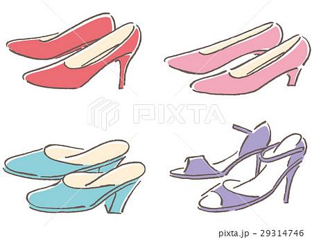 女性 靴のイラスト素材 [29314746] , PIXTA