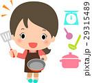 料理 笑顔 女性のイラスト 29315489