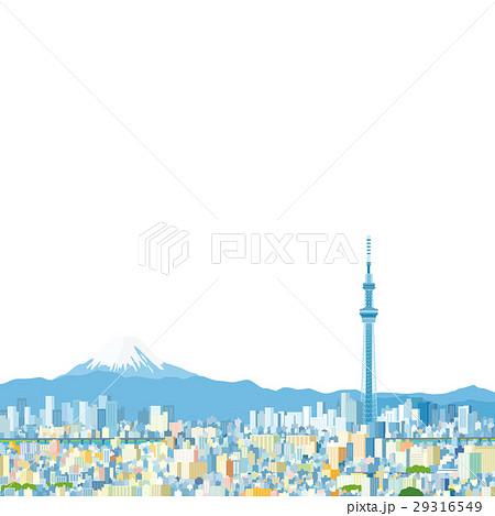 東京スカイツリーと富士山 29316549