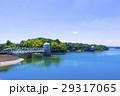 多摩湖 村山貯水池 青空の写真 29317065