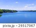 多摩湖 村山貯水池 青空の写真 29317067