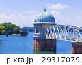 多摩湖 村山貯水池 青空の写真 29317079