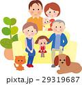 三世代家族 三世代 ペットのイラスト 29319687