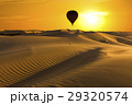 Beautiful desert landscape with a colorful sunset 29320574
