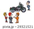 大型バイクイラスト、アメリカンバイク 29321521