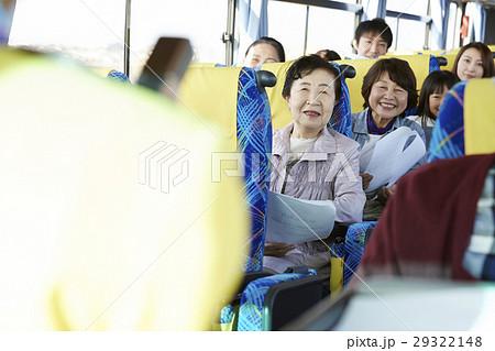 バスツアー バス 乗客の写真素材 [29322148] - PIXTA