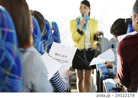 バスツアー バス 乗客 29322178