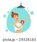 女性 シャワー 浴びるのイラスト 29326183