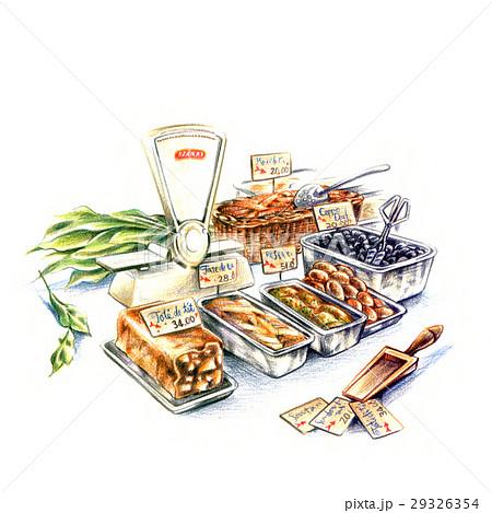 ヨーロッパの市場・惣菜の量り売り 29326354
