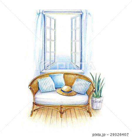 窓辺のソファー 29326407