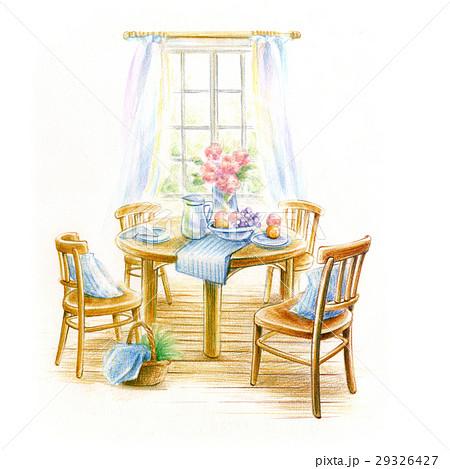 窓辺のダイニングテーブル 29326427