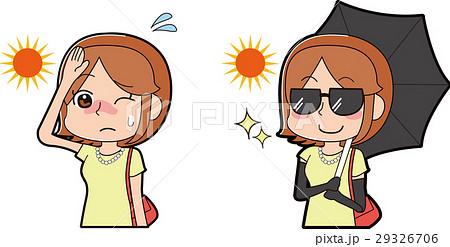 日焼け対策をする女性 29326706