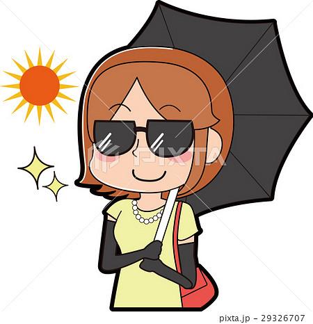日焼け対策をする女性 29326707