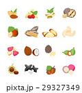 Cartoon Color Nuts Icons Set. Vector 29327349