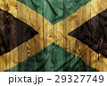National flag of Jamaica, wooden background 29327749
