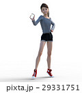 スマホを持つ若い女性 perming3DCG イラスト素材 29331751