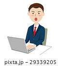 ビジネスマン デスクワーク ノートバソコンのイラスト 29339205