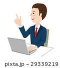 ビジネスマン デスクワーク ベクターのイラスト 29339219