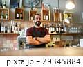 happy man, barman or waiter at bar 29345884