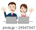 男女 ビジネスチーム オペレーターのイラスト 29347347