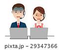 男女 ビジネスチーム オペレーターのイラスト 29347366