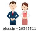 男女 ビジネスマン ビジネスウーマンのイラスト 29349511