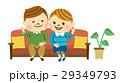 ソファ 男女 カップルのイラスト 29349793