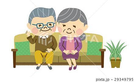 ソファに座る男女 29349795