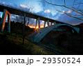 夕日沈む朧大橋ー福岡県八女市 29350524