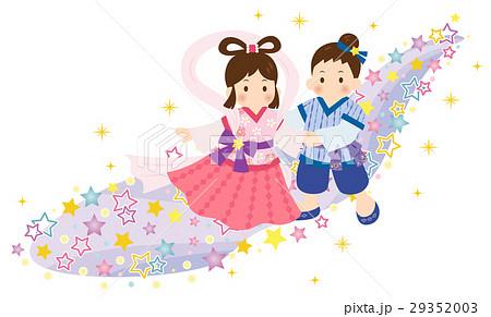 織姫 彦星 装飾 天の川 カラフル 29352003