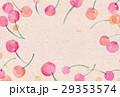 背景素材 水彩 サクランボ 29353574