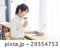 女性 カフェ コーヒーの写真 29354753