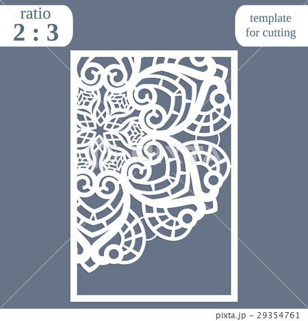 Laser cut wedding card template, greeting card 29354761