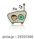 ラジオ 無線機 レトロのイラスト 29355366
