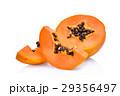 sliced fresh papaya isolated on white background 29356497
