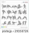 武道 スポーツ シルエット(2) 29358726