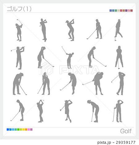 ゴルフ スポーツ シルエット(1) 29359177