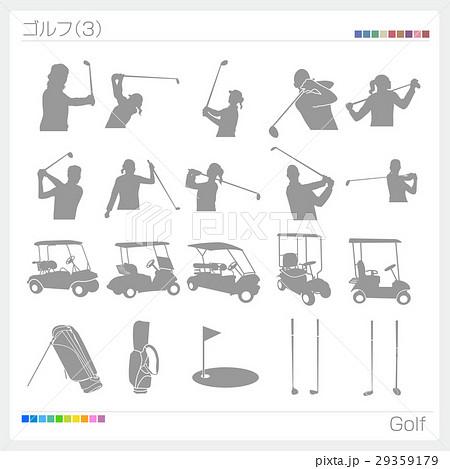 ゴルフ スポーツ シルエット(3) 29359179