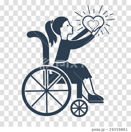 silhouette icon of Disabled Persons. 29359861
