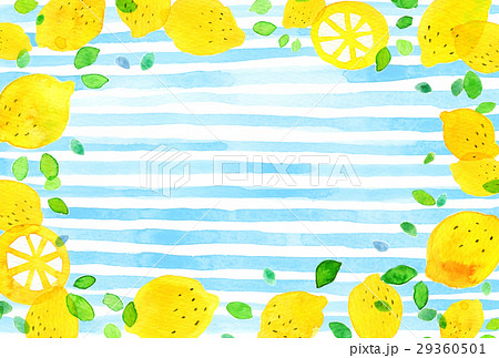 背景素材 水彩 レモン 29360501