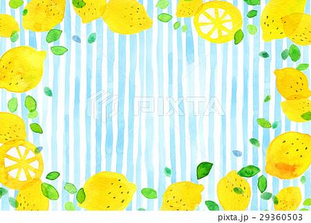 背景素材 水彩 レモン 29360503