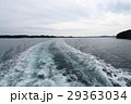 伊勢志摩・英虞湾を遊覧する観光客船の航跡(三重県の風景) 29363034