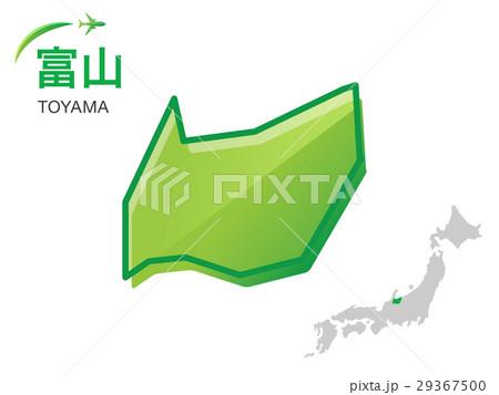 富山県の地図イラスト素材のイラスト素材 29367500 Pixta