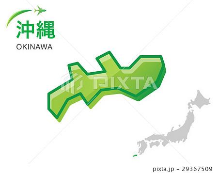 沖縄県の地図イラスト素材のイラスト素材 29367509 Pixta