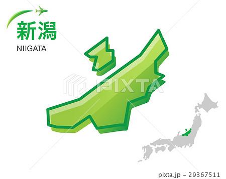 新潟県の地図イラスト素材のイラスト素材 29367511 Pixta
