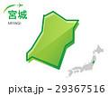 宮城 宮城県 地図のイラスト 29367516