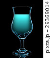Silhouette of colorful cocktail glass on black 29369014